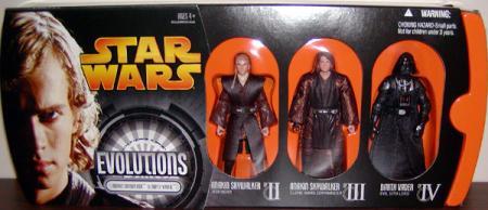 Anakin Skywalker Darth Vader Evolutions 3-Pack