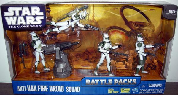 Anti-Hailfire Droid Squad 4-Pack Battle Packs action figures