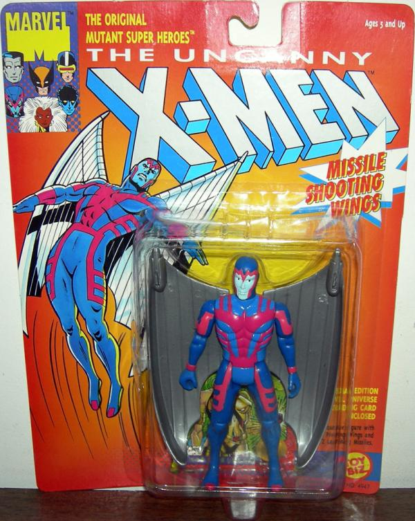 Archangel Action Figure with Missile Shooting Grey Gray Wings X-Men