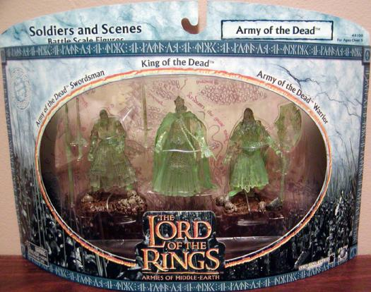 Army of the Dead Action Figures Lord of the Rings Armies of the Middle-Earth