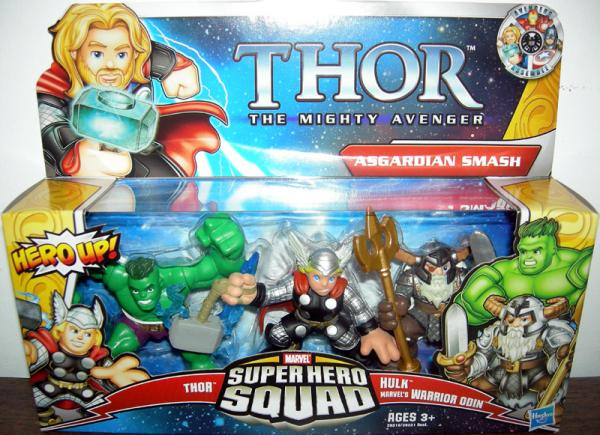 Asgardian Smash Super Hero Squad Thor Mighty Avenger action figures