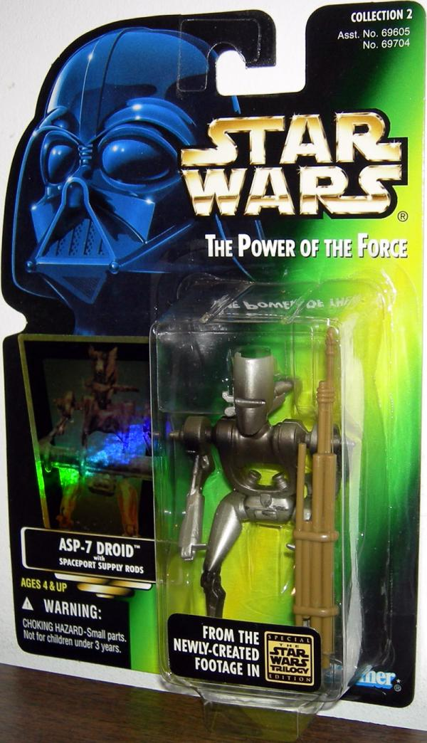 ASP-7 Droid Action Figure Star Wars Power Force Kenner