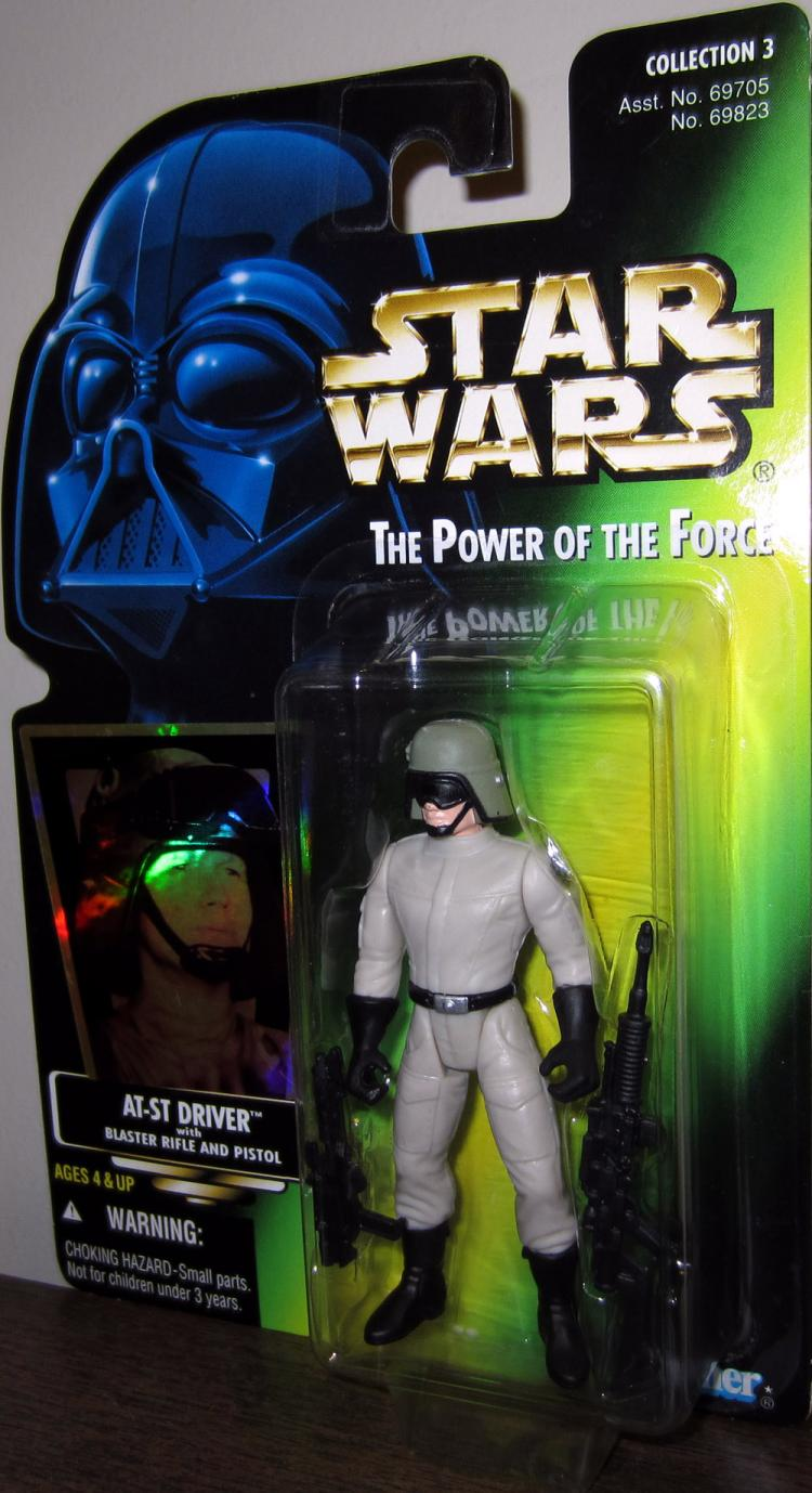 AT-ST Driver Green Card Star Wars Power Force action figure