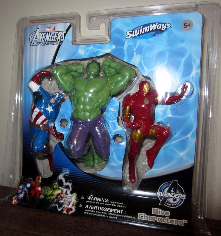 Avengers Dive Characters Captain America Hulk Iron Man