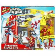Avengers Super City Super Hero Squad playset action figures