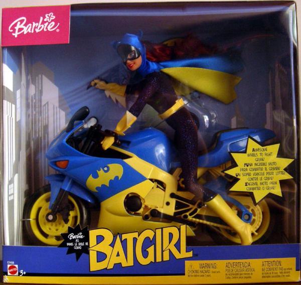 Barbie Batgirl Doll Motorcycle Vehicle Mattel