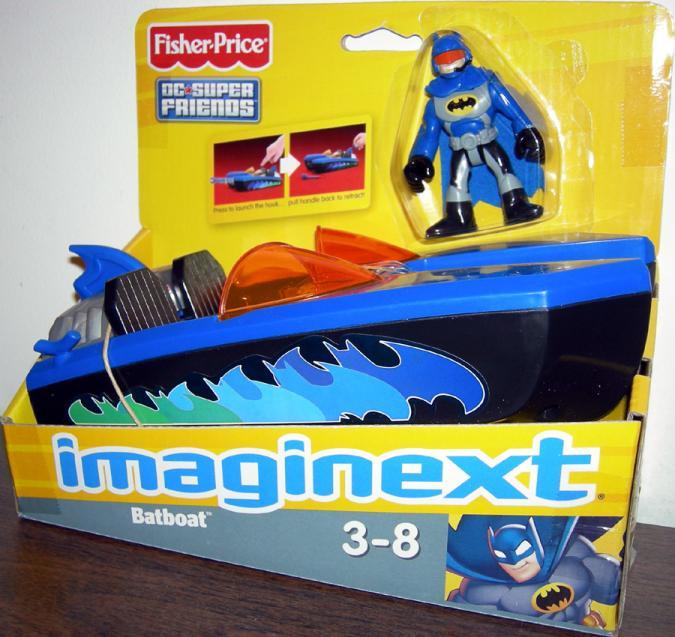 Batboat Imaginext Batman DC Super Friends action figure vehicle