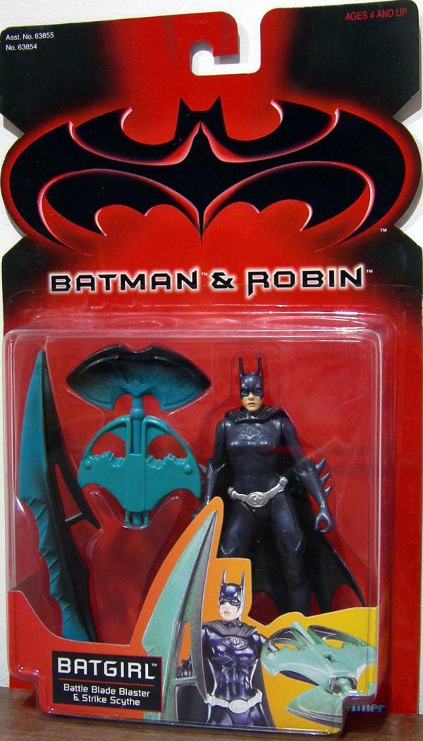 Batgirl Figure Batman Robin Movie Battle Blade Blaster Strike Scythe