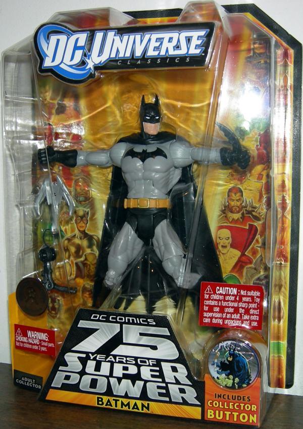 Batman DC Universe All Star all black logo chest action figure