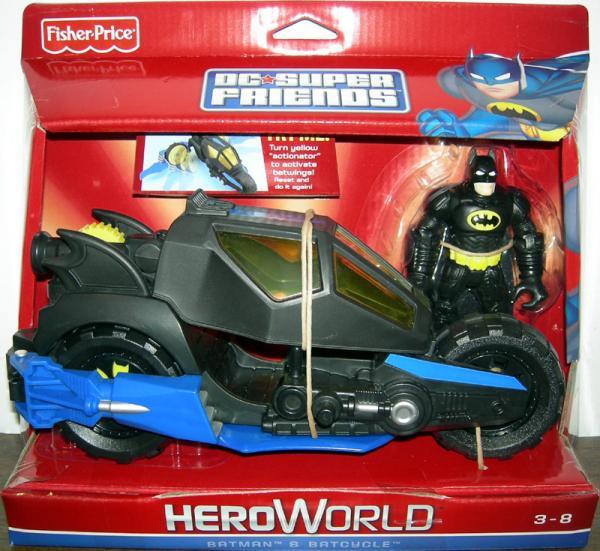 Batman Batcycle DC Super Friends HeroWorld action figure