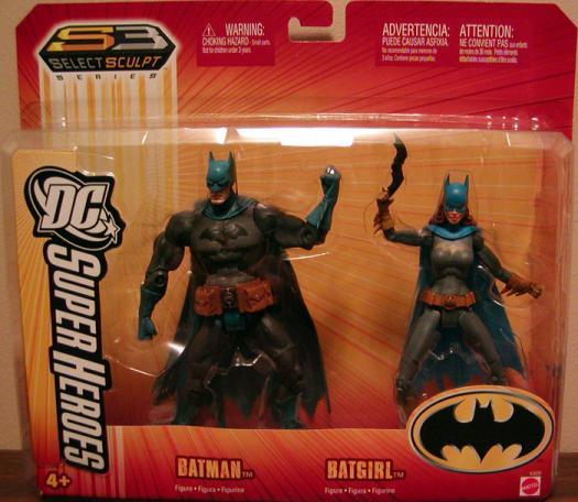 Batman Batgirl 2-Pack S3 Select Sculpt DC Superheroes action figures