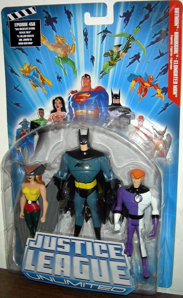 Batman, Hawkgirl Elongated Man 3-Pack Justice League Unlimited