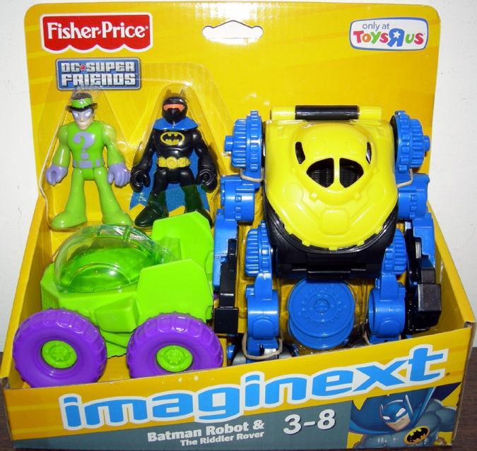 Batman Robot Riddler Rover Vehicle Action Figures Imaginext Toys R Us Exclusive