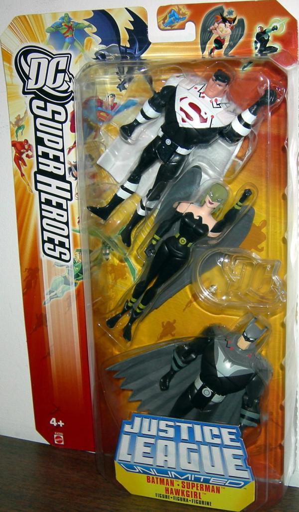 Justice Lords Batman Superman Hawkgirl 3-Pack action figures