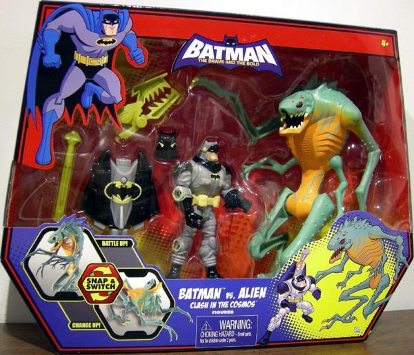 Batman vs Alien Clash Cosmos action figures