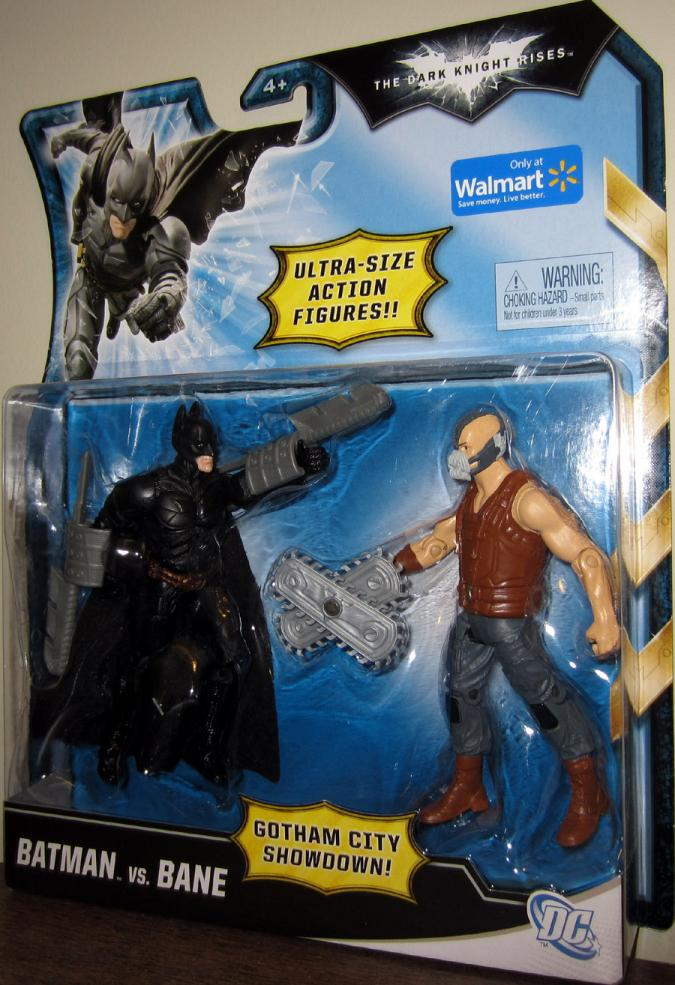 Batman vs Bane, brown vest Gotham City Showdown Walmart Exclusive action figures