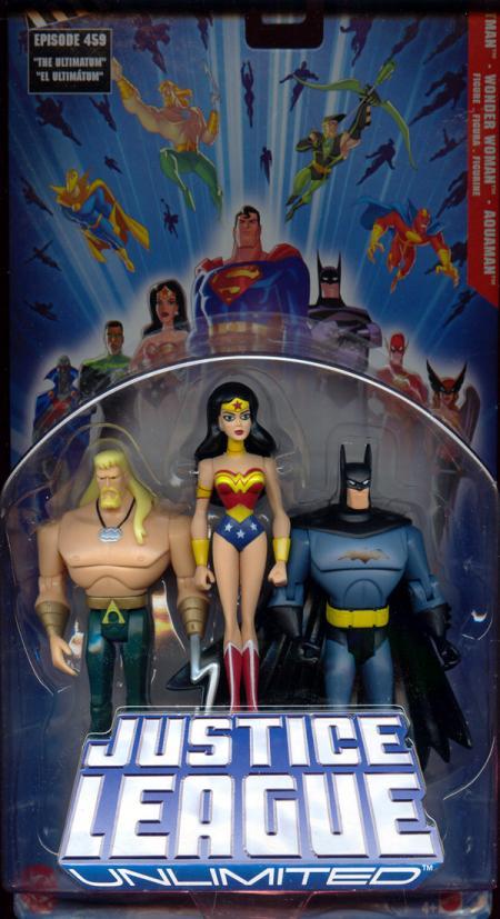 Batman, Wonder Woman Aquaman 3-Pack Justice League Unlimited