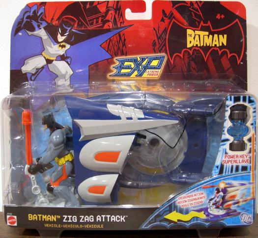 Batman Figure Zig Zag Attack Vehicle EXP Extreme Power