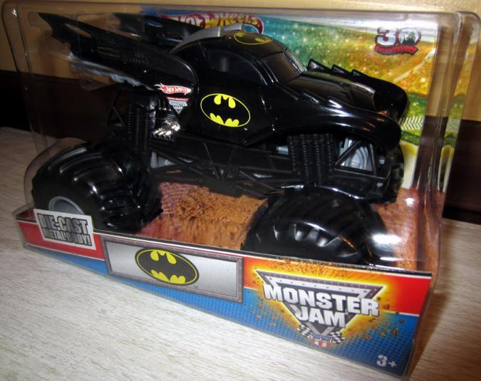 Batmobile Monster Truck Monster Jam, 1-24th scale