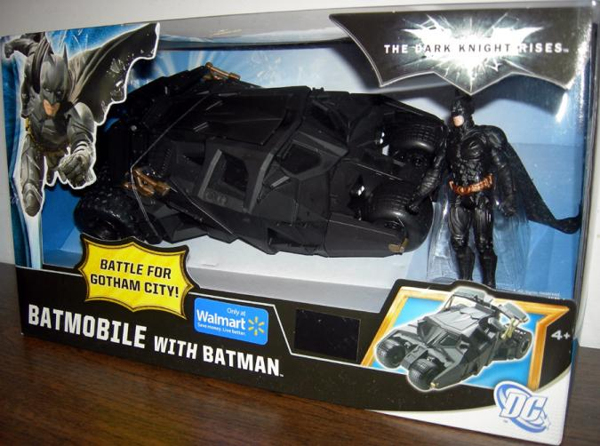 Batmobile Vehicle with Batman Action Figure Dark Knight Rises Walmart Exclusive