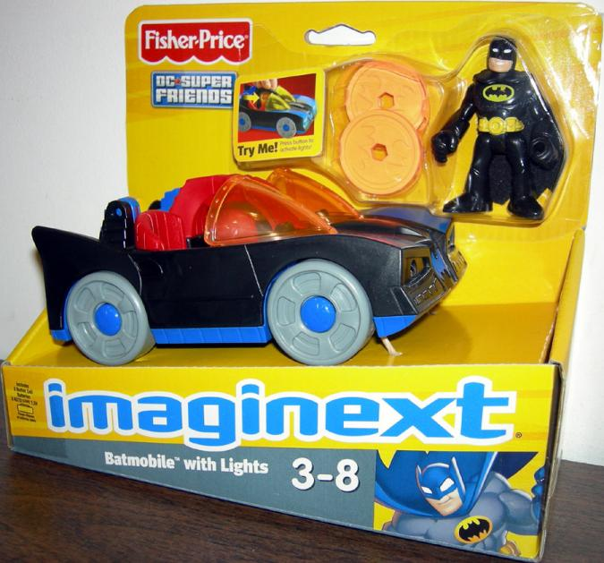 Batmobile lights Imaginext