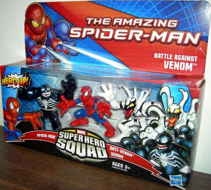 Battle Against Venom Spider-Man Super Hero Squad action figures