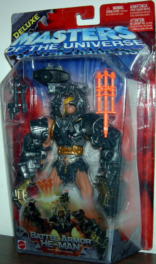 Battle Armor He-Man Figure Deluxe Masters Universe Mattel