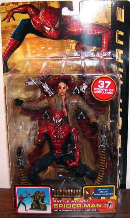 Battle Attack Spider-Man Action Figure Movie Toy Biz