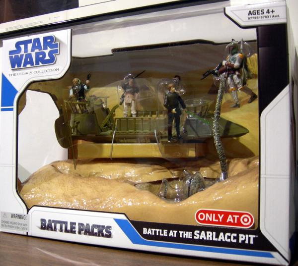 Battle Sarlacc Pit Battle Packs Star Wars Legacy Collection figures
