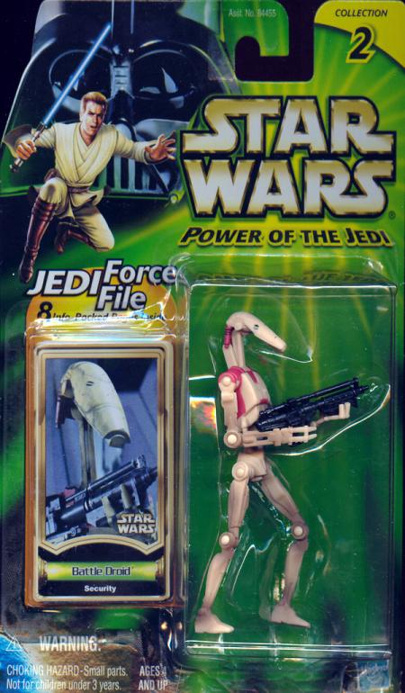 Battle Droid Security Star Wars Power Jedi Collection 2 action figure