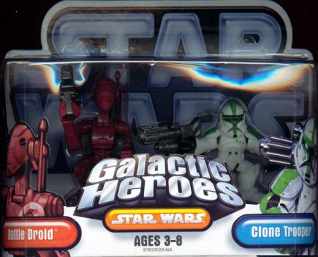 Battle Droid Clone Trooper Galactic Heroes