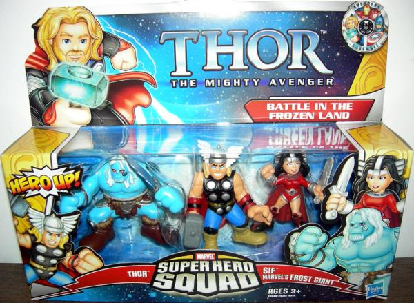 Battle Frozen Land Figures Super Hero Squad Hasbro