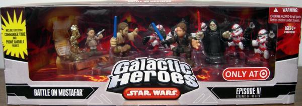 Battle Mustafar Figures 10-Pack Galactic Heroes Target Exclusive
