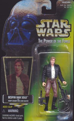 Bespin Han Solo Green Card Star Wars action figure