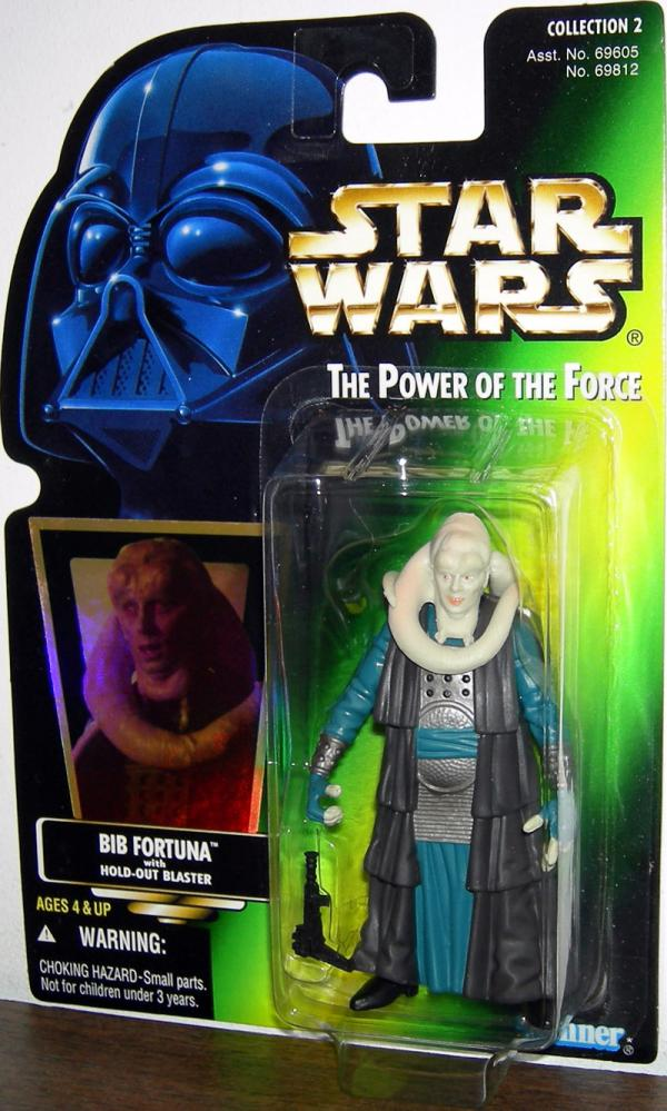Bib Fortuna Action Figure Green Card Star Wars Kenner