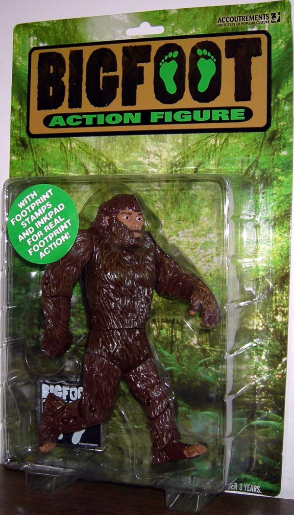 Bigfoot Action Figure Footprint Stamps Inkpad