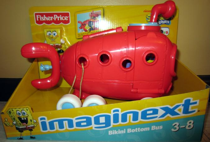 Bikini Bottom Bus Imaginext Spongebob Toys R Us Exclusive
