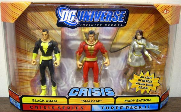 Black Adam Shazam Mary Batson Infinite Heroes Crisis action figures