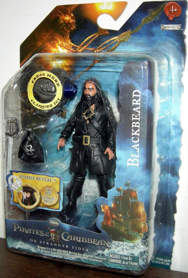 Blackbeard Action Figure with Ring On Stranger Tides Pirates of the Caribbean