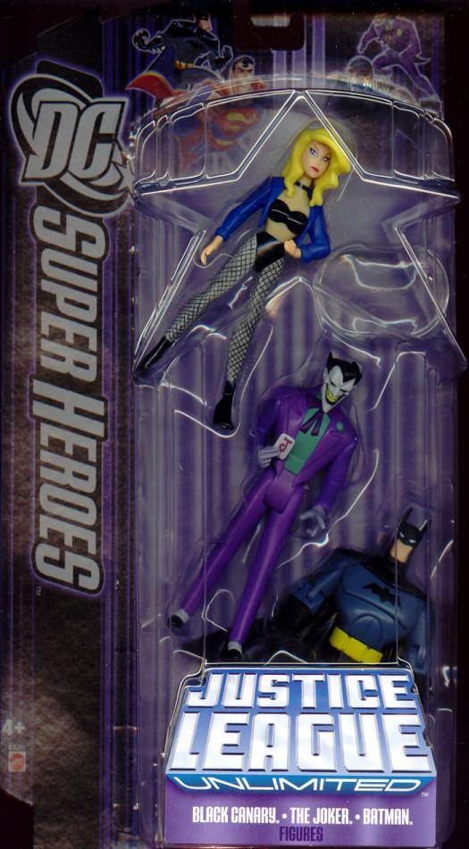Black Canary, Joker Batman 3-Pack