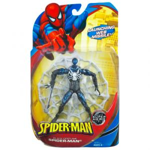 Black Costume Spider-Man Action Figure Launching Web Missile