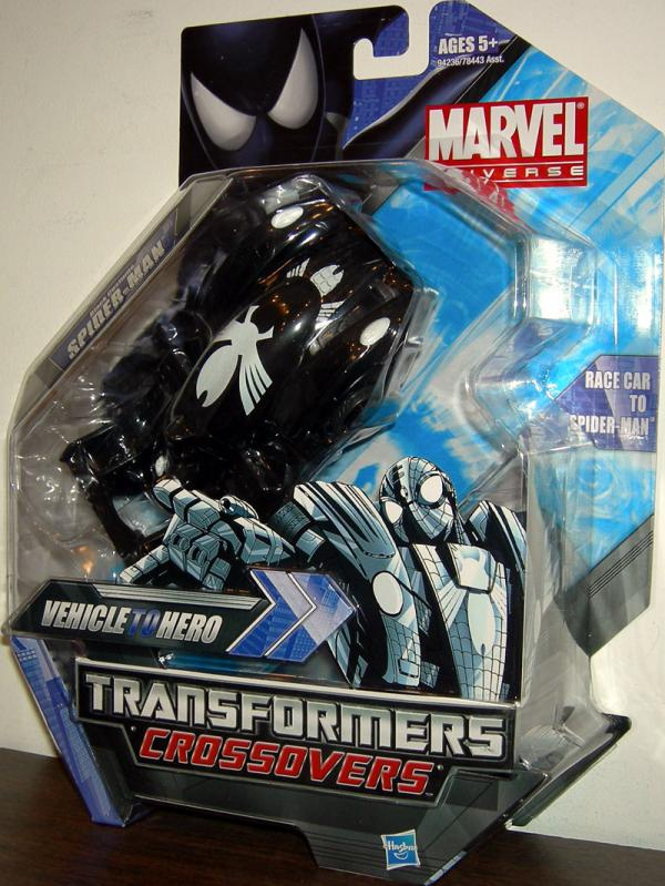 Black Costume Spider-Man Transformers Crossovers Action Figure Marvel Universe