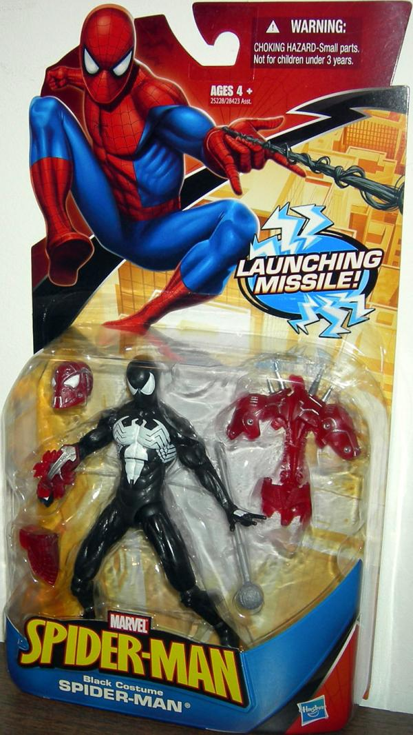 Black Costume Spider-Man Figure Launching Missile