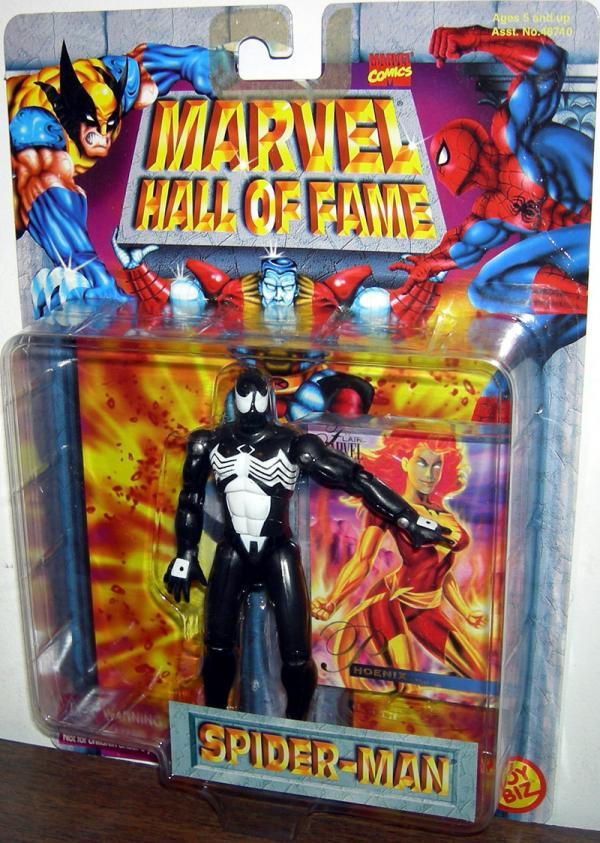 Black Costume Spider-Man Marvel Hall Fame