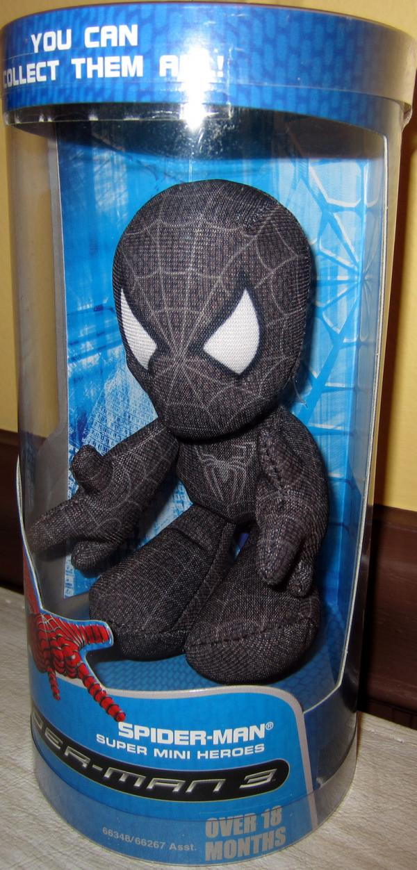 Black Costume Spider-Man 3 Super Mini Heroes Plush