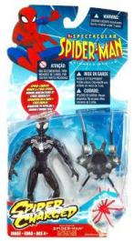 Black Costume Spider-Man Action Figure Spider-Charged Armor Cyber