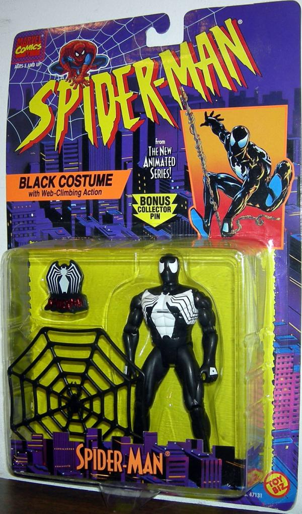 Black Costume Spider-Man Animated Web-Climbing Action figure