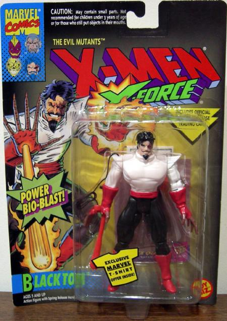 Black Tom Action Figure X-Men X-Force Power Bio-Blast Toy Biz