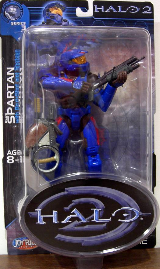 Blue Spartan Halo 2, red stripes Spades emblem