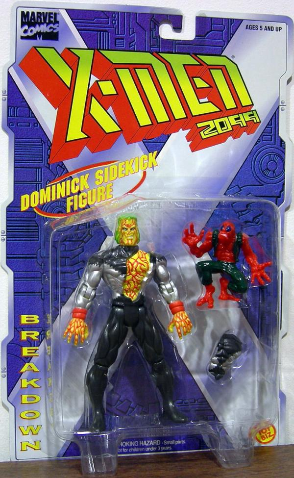Breakdown Figure X-Men 2099 Dominick Sidekick Toy Biz